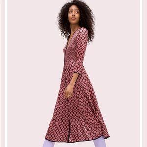 Kate Spade - Spade Flower Silk Midi Dress